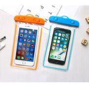 夜光防水ケース★スマホケース ストラップ付き iPhone アイフォン対応 全機種対応