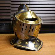西洋甲冑 中世ヨーロッパ式 兜 ナイトヘルメット 真鍮装飾タイプ