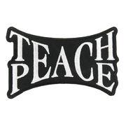 ミリタリーパッチ TEACH PEACE アイロンシート付