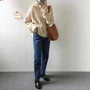 一部即納★高レビュー★2019 新品  タートルネック ニット スプリット 百掛け ゆったりする セーター