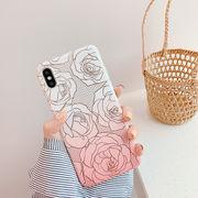 フラワー柄iPhoneケース スマホケース アイホンXR アイフォン11 Pro