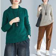 【秋冬新作】ファッションセーター♪グリーン/カーキ2色展開◆