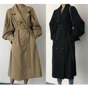 2019年新作 人気高い 長袖コート 全2色 ロングコート ログ丈 体型カバー 着痩せ 切り替え 無地