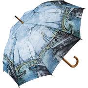 【取り寄せ】名画木製ジャンプ傘【エッフェル塔】