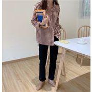 【NEW】チェックシャツ★韓国ファッション★秋服★レディース★トップス★長袖