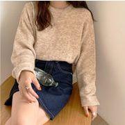 【NEW】ぼかしニット★韓国ファッション★セーター★あったか★長袖★トップス