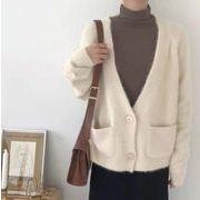 【NEW】アンゴラVニット★韓国ファッション★トップス★ニット★コート★秋冬