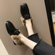 靴 女靴 秋と冬 新しいデザイン 英国スタイル アンティーク調 フラット ふわふわシュー