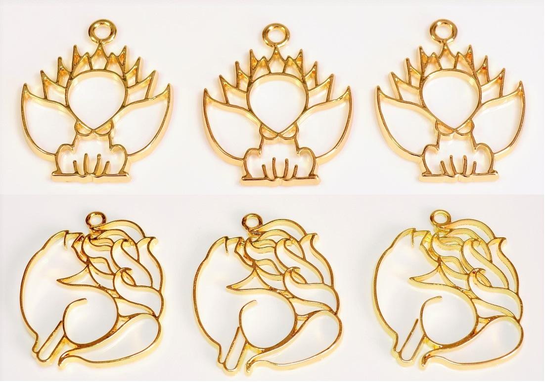【売り尽くしセール】アンティークパーツ 九尾の狐レジンフレーム レジン空枠