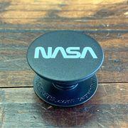 NASA公認(アメリカ航空宇宙局)Popsockets・ポップソケット・グリップ・ロゴタイプ(ワーム)