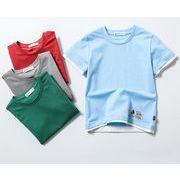 トップス シャツ  春夏シャツ 子供トップス キッズシャツ 迷彩柄  kidsシャツ 半袖Tシャツ 無地シャツ