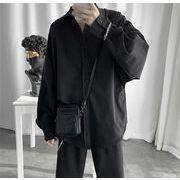 2019韓国ファッション 無地 ブラウス レジャー ゆったりする新品 シャツ 長袖 若者 百掛け トレンド コート