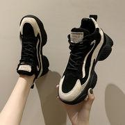 靴 女靴 秋と冬 新しいデザイン 何でも似合う 古い ? 靴 ハンサム ひもあり 厚底