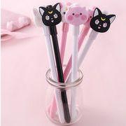 猫形 ボールペン 中性ボールペン 水性ボールペン 創意文具 黒インク