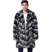 新作 メンズ ファーコート 毛皮コート ロングコート 上着  秋 冬 防寒 P7824