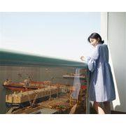 韓国のファッションCHIC気質夏の新しいトランペットスリーブプリーツチェック柄のドレス