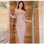 韓国ファッション 大人気 ワンピース チュニック ドレス 新作 レディース セクシー