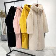 2019年秋新作 韓国 ジャンパー フード付き ボア毛 新作 フェイクファー 防寒  大きいサイズ 暖かい