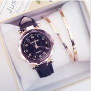 新作★ストーン★レディース用★素敵な腕時計★通学、通勤★ウォッチ★2色