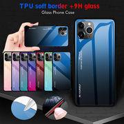 2019 iPhone XI/XIR/XI Maxスマホ ケース強化9Hガラスケース TPUバンパー 超薄