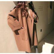 韓国ファッション レディース ゆったり チェスターコート