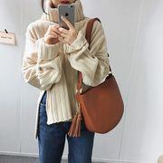 韓国ファッション ニット ハイネック セーター