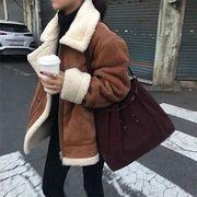 韓国ファッション ジャケット ボア レトロベーシック