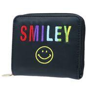 【財布】スマイリーフェイス 二つ折り財布 レインボーロゴ