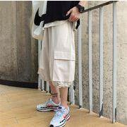 夏   薄 ファッション ゆったりする ス ショートパンツ マスタード