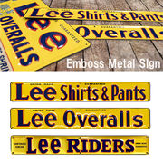【復刻版】LEE Emboss Metal Sign
