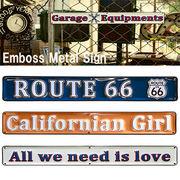 【R66】カリフォルニア Emboss Metal Sign