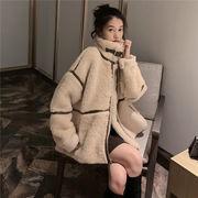2019 秋冬 新品 子羊の毛 ゆったりする 暖かいジャケット もこもこ 中綿コート ムートンコート