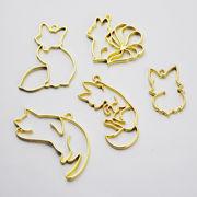 激安☆DIYハンドメイド金属チャーム◆パーツ材料手芸◆レジン枠◆空枠◆猫キツネ ◆フレーム20枚