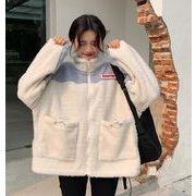 秋冬新入荷★  カラーバンド  レジャー   保温する  韓国ファッション   子羊の毛   コート