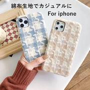 2019秋冬限定 new iPhone11/11pro/11pro Max ケーススマホ ケース アイフォーン カバー綿布ケース可愛い2色