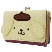 【財布】ポムポムプリン 三つ折りがまぐち財布 フェイスデザイン