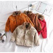 コーデュロイ ジャケット  裏起毛 子供服 90-130 秋冬 長袖 子供コート 男の子 女の子