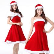 【即日出荷】白ポレロ付き サンタクロース クリスマス コスプレ衣装【9244/3】