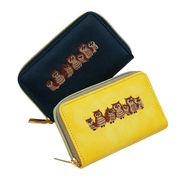 New!かわいいフクロウ柄刺繍スクエア型PUコインケース レザー調 ミニ財布 福財布