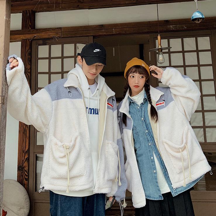 韓国ファッション シープボアユニセックスジャケット