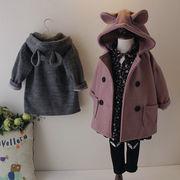 激安★♪キッズファッション★♪暖かいコート★♪ウサギの耳帽子★♪女の子★♪可愛い★♪♪♪