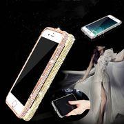 スマホ ケース iphone スマホケース キラキラ ラインストーン ラインストーンバンパー 金属バンパー