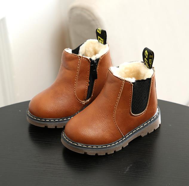 【子供靴】ブーツ シューズ 裏ボア 秋冬 キッズ 子供 靴 カジュアル系 女の子 韓国ファッション