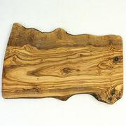 オリーブ木 まな板(カッティングボード) NATURAL 42CM 穴なし