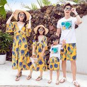 超人気ワンピースショートパンツシャツ親子服カジュアルセット夏服韓国子供服新作