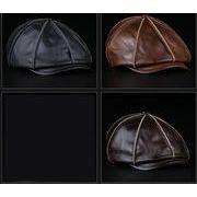 メンズ帽子 牛革帽子 防寒帽子 秋冬帽子 本革帽子 キャップ クール帽子 ベレー帽 アウトドア