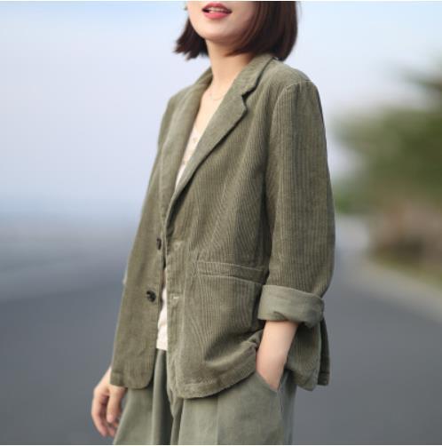 コールテン スーツ★秋冬新作 レディース  復古  緩い  レジャー  コールテン  コート  3色  M-XL