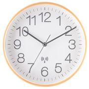 電波掛け時計 プライウッド Φ28cm ホワイト
