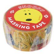 【マスキングテープ】スヌーピー マスキングテープ 箔入り 20mm イエロー