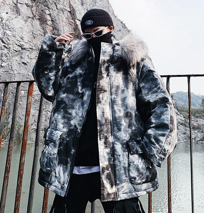 男の子 中綿コート 迷彩柄 アウター 厚手ジャケット